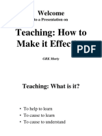 Teaching- How to Make It Effective