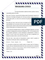 Programa Civico y Cultural 2013-2014