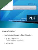 EDU555 Curriculum Evaluation, CIPP Model (1)