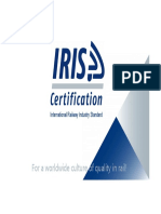 Innotrans IRIS certification