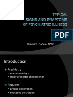 Typical Signs and Symptoms of Psychiatric Illness Part 2
