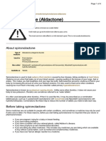 UK Patient Spironolactone Medication Leaflet