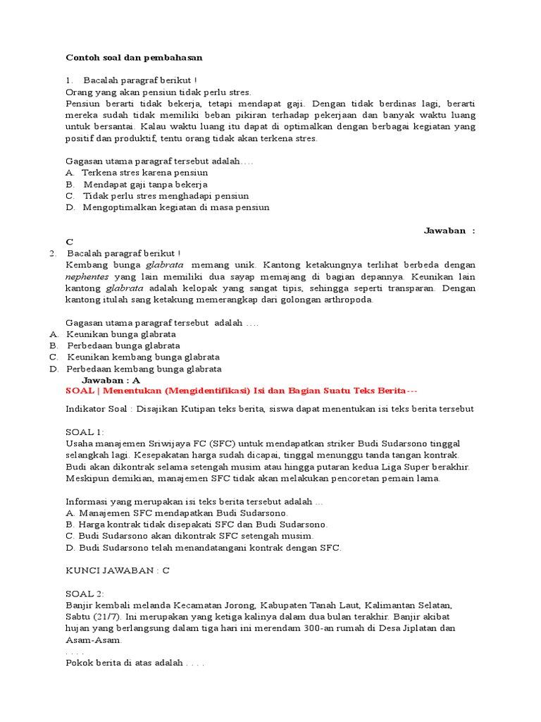 Contoh Soal Dan Pembahasan Us Smp5
