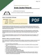 UK Patient Isosorbide Dinitrate Medication Leaflet