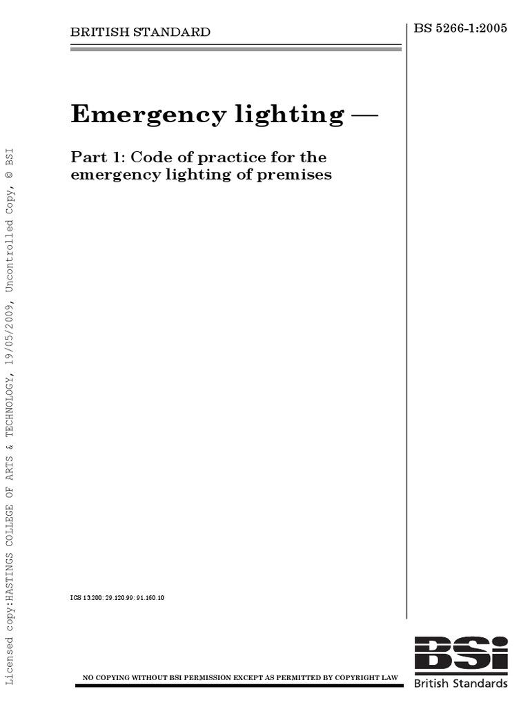 sc 1 st  Scribd & BS 5266-1-2005   Electrical Wiring   Lighting