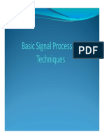 Basic Signal Processing Techniques