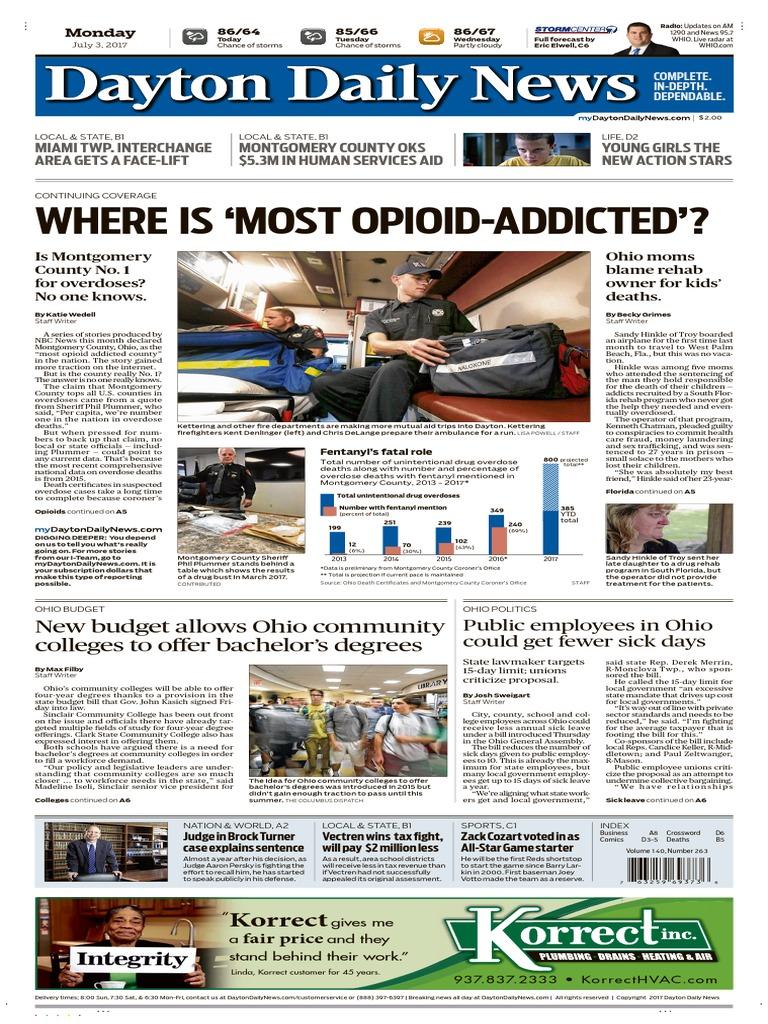 Dayton Daily News July 03 2017 | Medicaid | Politics