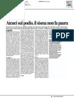 Atenei sul podio, il sisma non fa paura - Il Corriere Adriatico del 4 luglio 2017