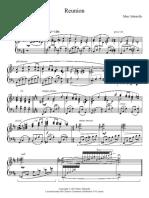 Reunion Example sheet piano from aria maestosa