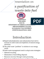 Plasma Gasification of Solid Waste Into Fuel