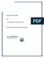 Concrete Technology Notes