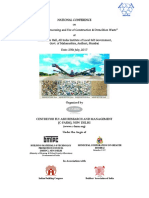 Brochure of National Conference on C&D Waste, July 17