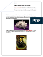 Historia de La Cristalografia