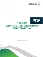 Checklist Testing and Inspection Without Interconnection 2