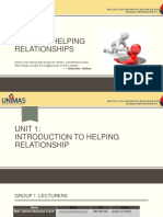 Unit 1 - Introduction to Helping Relationship July 2016