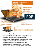 1.MIL 1. Introduction to MIL Part 2 Characteristics of Information Literate Individual and Importance of MIL