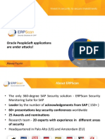 2015 Hack in Paris Oracle PeopleSoft Applications Are Under Attacks