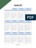 Calendarios 2018 Horizontal
