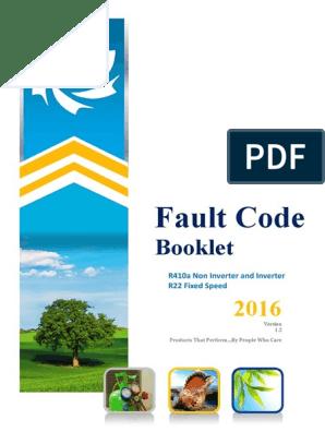 Dunham Bush Fault Codes | Hvac | Switch