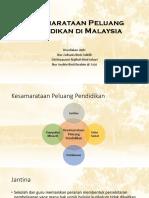 Kesamarataan Peluang Pendidikan Di Malaysia