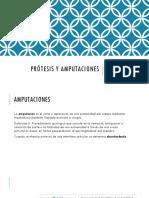 Prótesis y Amputaciones