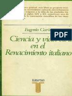 GARIN ¢ Ciencia y vida civil en el Renacimiento Italiano [LA es] [KW science]