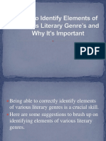 5.How to Identify Elements of Various Literary Genre's