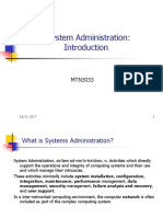 1. Introduction of System Admin