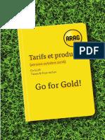 Tarifs Et Produits 2016 - ARAG
