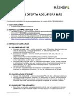 Web Castellano Condiciones Legales Adsl y Fibra