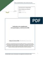 Indicadores de los principios de la Mesa Redonda de Materiales Sostenibles (RSB)
