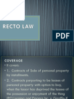 RECTO LAW
