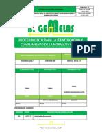 PROCEDIMIENTO PARA LA IDENTIFICACION DE CUMPLIMIENTO DE LA NORMATIVA LEGAL.docx