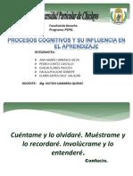 PROCESOS COGNITIVOS Y SU INFLUENCIA EN EL APRENDIZAJE.ppt