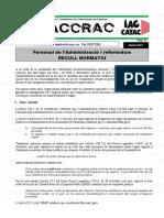Documento CATAC sobre la legalidad de funcionarios