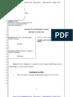Righthaven Copyright Infringement Complaint against Majorwager.com, Inc., Case No. 10-cv-00484 (Filed April 7, 2010)