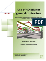 Msc Thesis - Lars Peter Lennert - BIM 4D for General Contractor