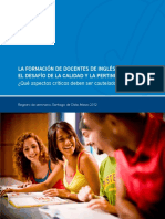 CHILE - La Formacion de Docentes de Ingles en Chile - El Desafio de La Calidad y La Pertinencia