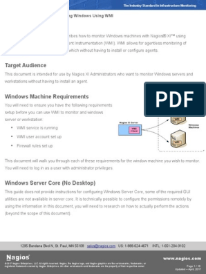 Monitoring Windows Using WMI and Nagios XI | Microsoft