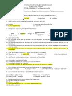 3er Examen Parcial Biologia 1