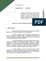 DOC Relatório Legislativo SF170293218153 20170503