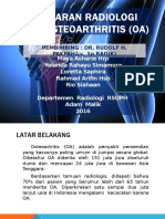 Gambaran Radiologi Pada Osteoarthritis (OA)