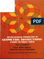Recreational Problems in Geometric Dissections and How to Solve Them