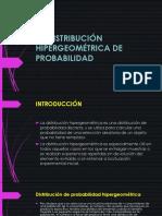 La Distribución Hipergeometrica de Probabilidad