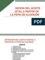 Aceite Pepa Algodon