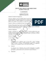 REGLAMENTO DEL GRUPO PARLAMENTARIO FUERZA POPULAR (LA BANKADA)