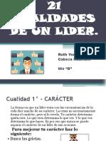 21 Cualidades de Un Lider
