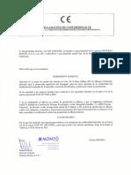 Declaración CE de Conformidad HORMIMONT ACR
