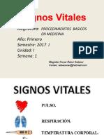 Clase 1 Signos Vitales 2017