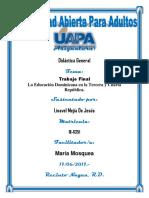 Trabajo Final Linavel Mejia Fundamentos Filosoficos e Historia de La Educacion Dominicana